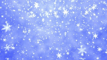New Year's snowflakes on it is light a dark blue background