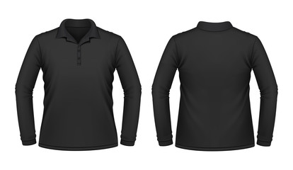 Black long sleeve men shirt