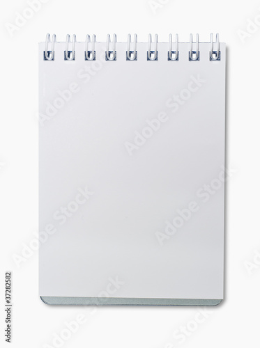 Small open blank note book