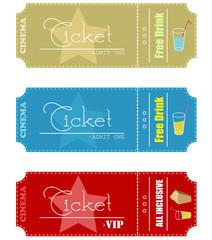 Cinema tickets. Vector illustration.