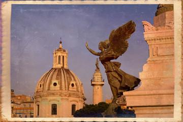 Vittoria alata, chiesa di San Loreto, colonna traiana, Roma