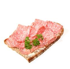 Brot mit Wurst