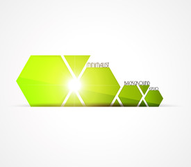 Minimalist green background. Vector illustration.
