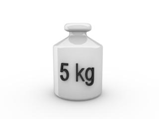 3d Rendering Gewicht 5 kg