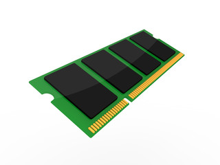 3d Rendering Icon Arbeitsspeicher / RAM