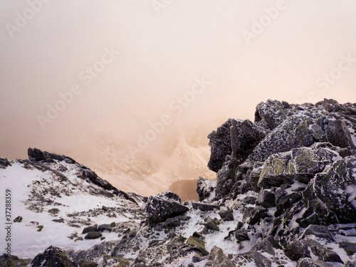 High Tatra Krivan mountain in morning