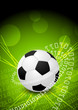 Abstract green background with ball