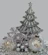 Silberne Weihnachtsdeko