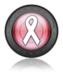 "Red Industrial Style Icon ""Awareness Ribbon"""