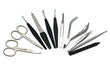 Manicure equipment - scissors, nail clipper, tweezer, file