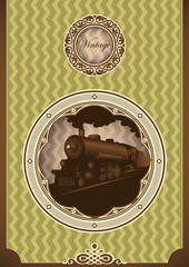 Vintage poster with locomotive.