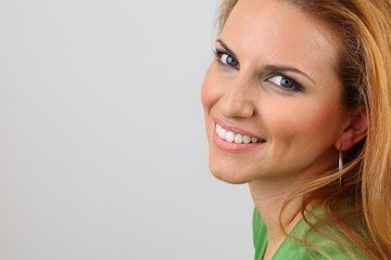 Attractive lady with healthy smile