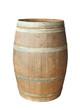 Leinwanddruck Bild - Old wood barrel isolated