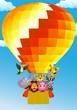 Animal cartoon with balloon
