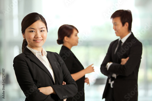 Business woman in a corportate environment