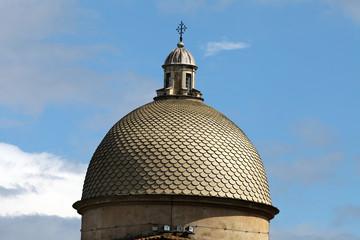 Pisa - Camposanto dome relating to the blue sky