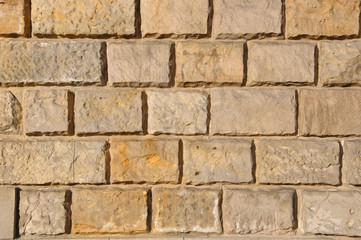 Mur z kamienia piaskowca