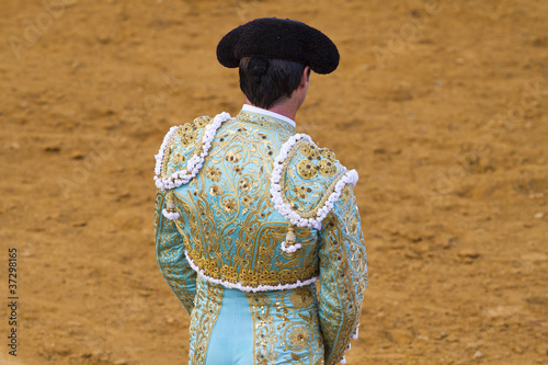 Matador in bullfight. Madrid, Spain.