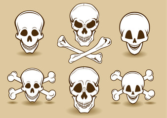 Skulls Funny Set