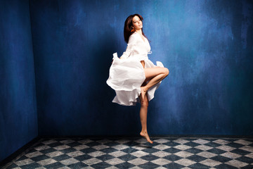 levitation woman
