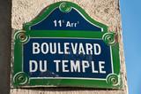 Boulevard du temple à Paris poster