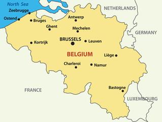 vector map - Kingdom of Belgium