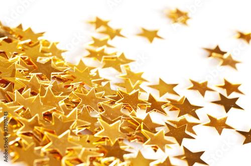 Décoration de Noël, étoiles dorées