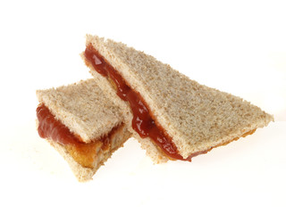 Fish Finger Sandwich with Tomato Sauce