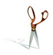 scissors on blades