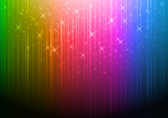 colorful vector background with stars