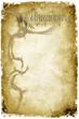 Ehrenurkunde auf altem Papier