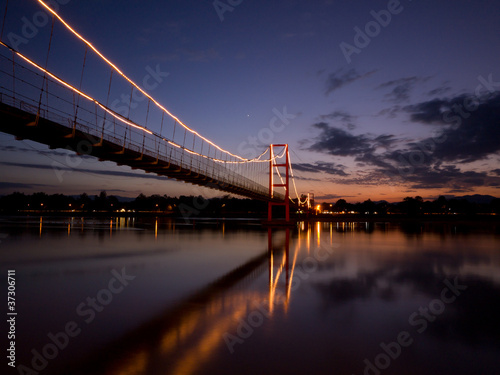 Colorful Bridge at Twilight