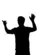 Silhouette eines Dirigenten