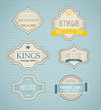 Vector vintage labels, discount labels set,