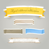 Colorful polygonal vintage origami banners poster