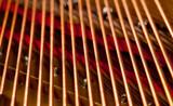 Piano strings in macro poster
