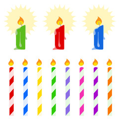 Colorful candle vector