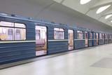 Fototapeta niebieski - miejski - Metro