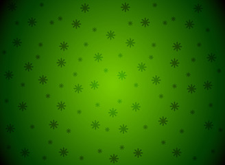 Snowflakes green Vector background
