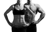 man and a woman in the gym - 37312534