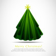 Vector abstract christmas tree