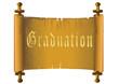 Graduation gold certificate scrolls