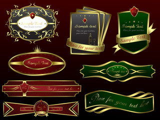 Golden Vector Banners