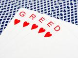 Greed at cards poster