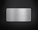 Fototapety metal plate with rivets industrial background