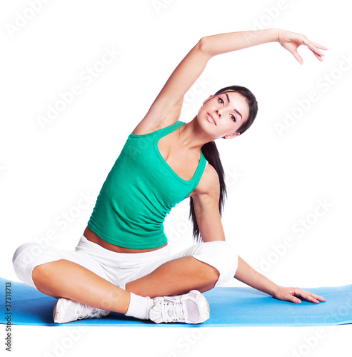 girl stretching