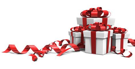 Paquets cadeaux 3d