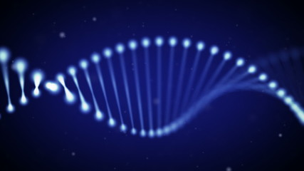 Animated DNA chain, loop.