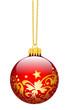 Weihnachtskugel, Christbaumkugel, verziert, Weihnachtsbaumkugel