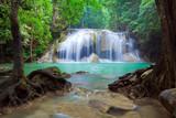 Fototapety Deep forest Waterfall, Kanchanaburi, Thailand